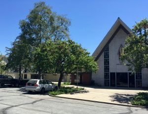 Knox Presbyterian. Parking lot entrance off Del Mar.