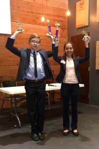 1st place in the SLAM 2016 debate tournament went to Alex and Scarlet.
