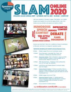 SLAM ONLINE 2020 flyer